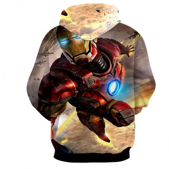 Marvel Comics Indestructible Iron Man Full Print Hoodie