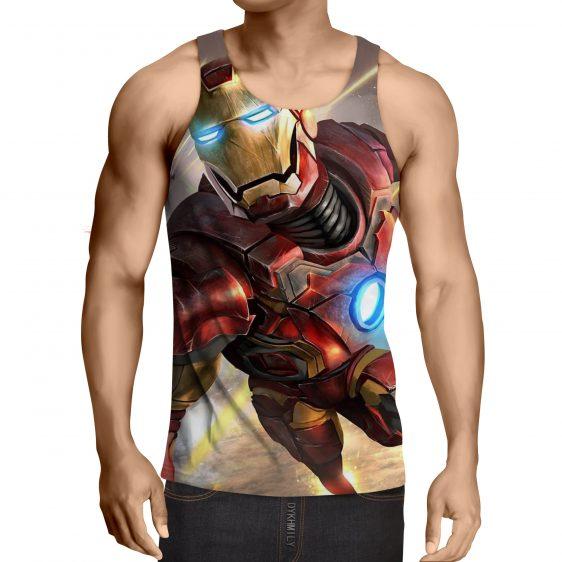 Marvel Comics Indestructible Iron Man Full Print Tank Top