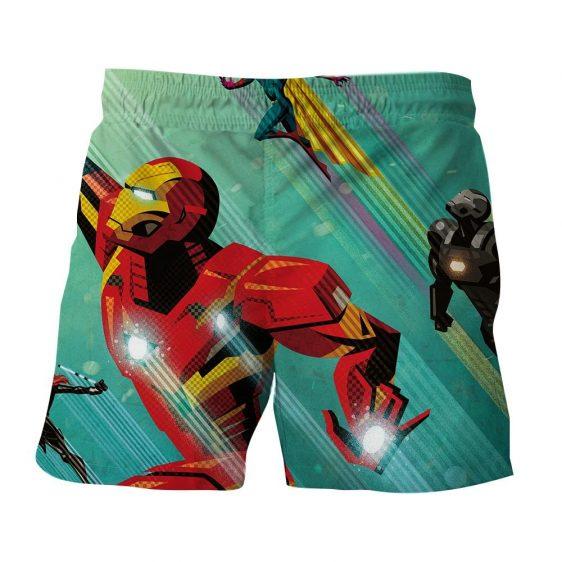Marvel Comics Iron Man In Rush Attack 3D Printed Shorts