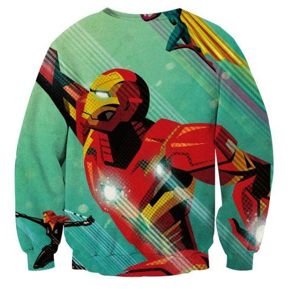 Marvel Comics Iron Man In Rush Attack Design Sweatshirt