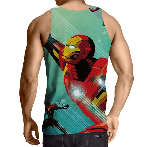Marvel Comics Iron Man In Rush Attack Full Print Tank Top