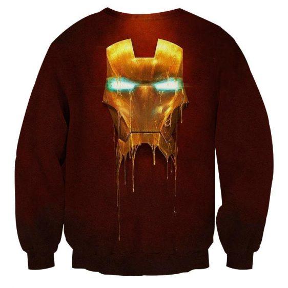 Marvel Comics Iron Man Mask Melting Design Sweatshirt
