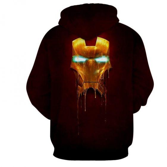 Marvel Comics Iron Man Mask Melting Full Print Hoodie