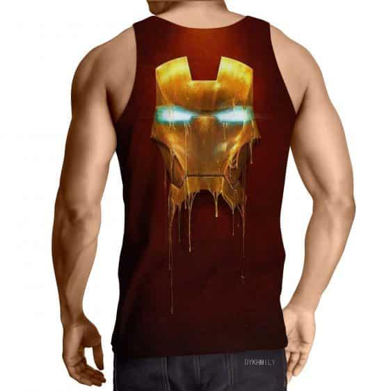 Marvel Comics Iron Man Mask Melting Full Print Tank Top