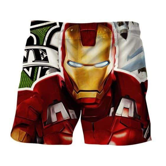 Marvel Comics Iron Man Portrait Design 3D Printed Shorts