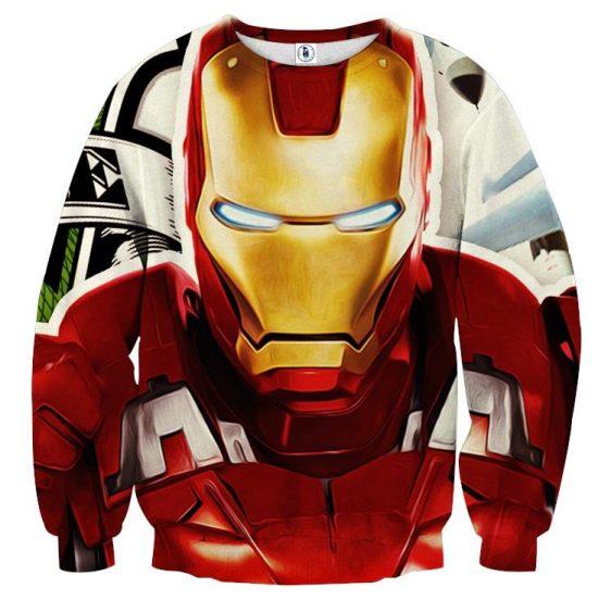 Marvel Comics Iron Man Portrait Dope Design Sweatshirt