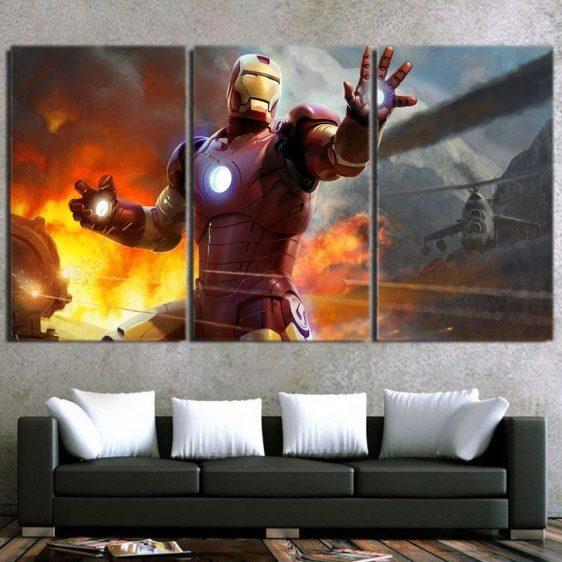 Marvel Comics Iron Man's Power Show 3pcs Canvas Print