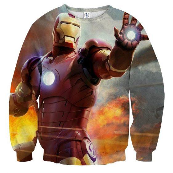 Marvel Comics Iron Man's Power Show Design Sweatshirt