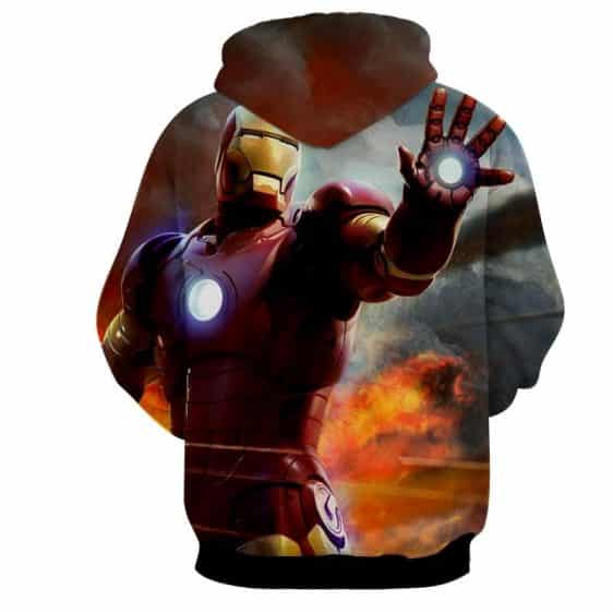 Marvel Comics Iron Man's Power Show Full Print Hoodie