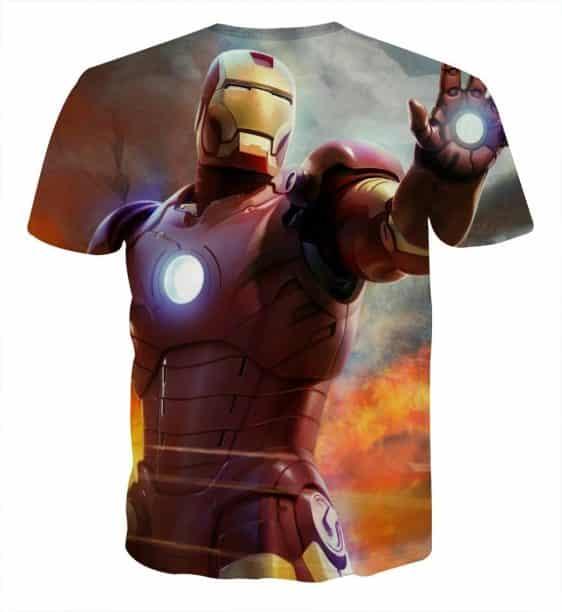 Marvel Comics Iron Man's Power Show Style Full Print T-shirt