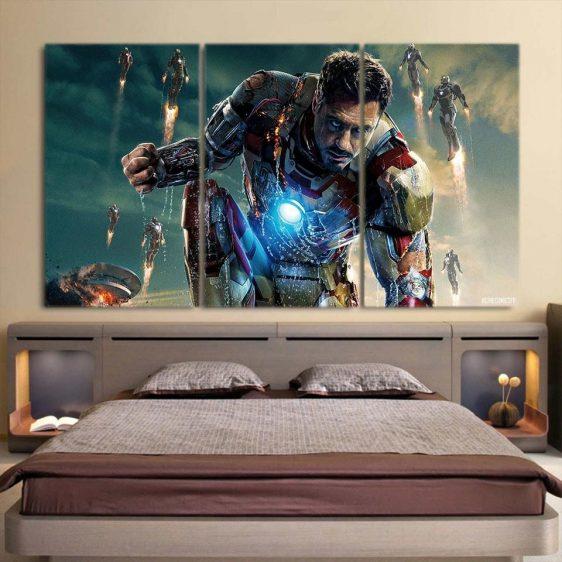 Marvel Comics Philanthropist Tony Stark 3pcs Canvas Print