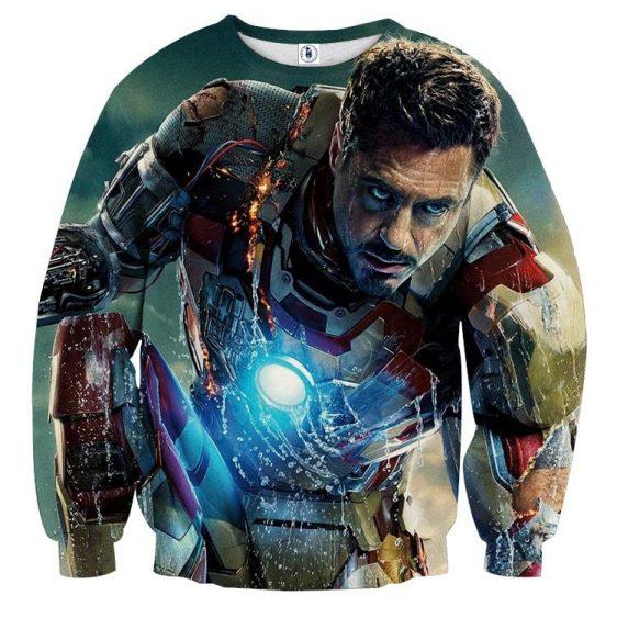 Marvel Comics Philanthropist Tony Stark Design Sweatshirt
