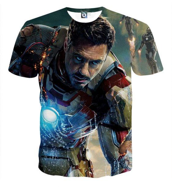 Marvel Comics Philanthropist Tony Stark Design T-shirt