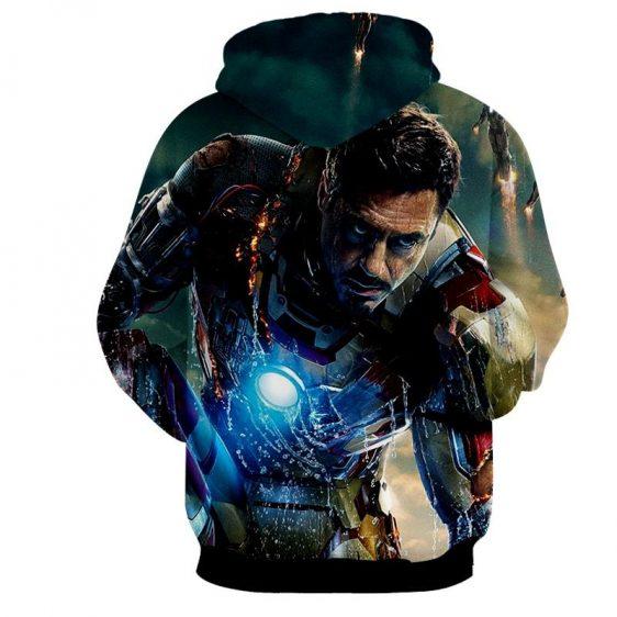 Marvel Comics Philanthropist Tony Stark Full Print Hoodie