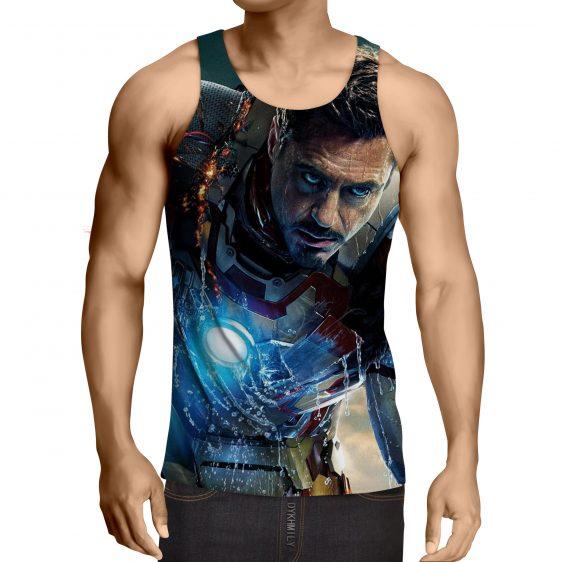Marvel Comics Philanthropist Tony Stark Full Print Tank Top