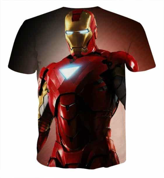 Marvel Comics Powerful Iron Man Design Full Print T-shirt