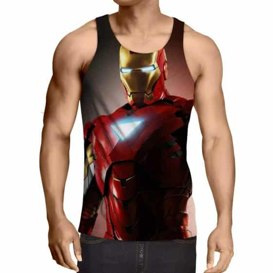 Marvel Comics Powerful Iron Man Style Full Print Tank Top