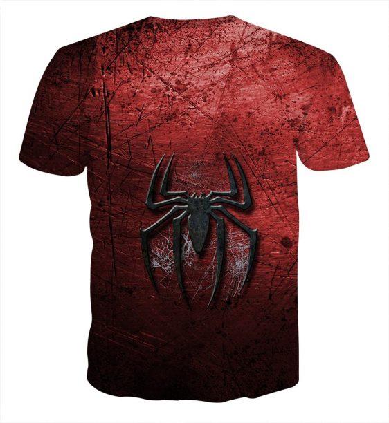 Marvel Comics Radioactive Spider Design Print T-Shirt