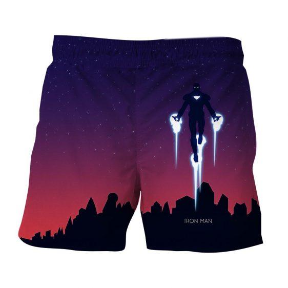 Marvel Comics Soar High Iron Man 3D Printed Shorts