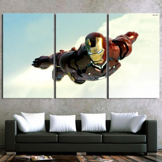 Marvel Comics Soar High Iron Man 3pcs Canvas Print