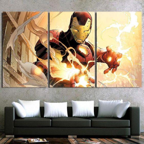 Marvel Comics The Fearless Iron Man 3pcs Canvas Print
