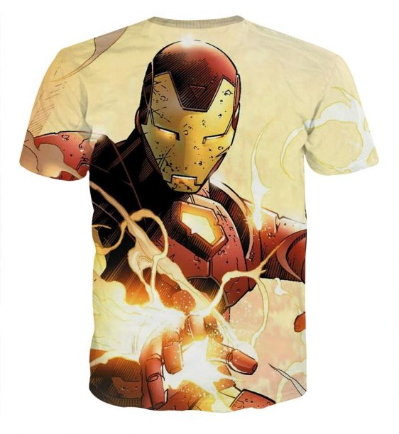 Marvel Comics The Fearless Iron Man Design T-shirt