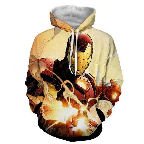 Marvel Comics The Fearless Iron Man Full Print Hoodie