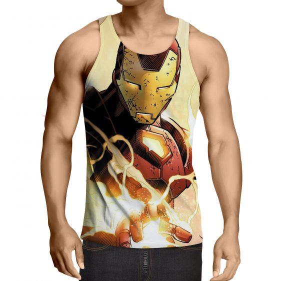 Marvel Comics The Fearless Iron Man Stylish Print Tank Top