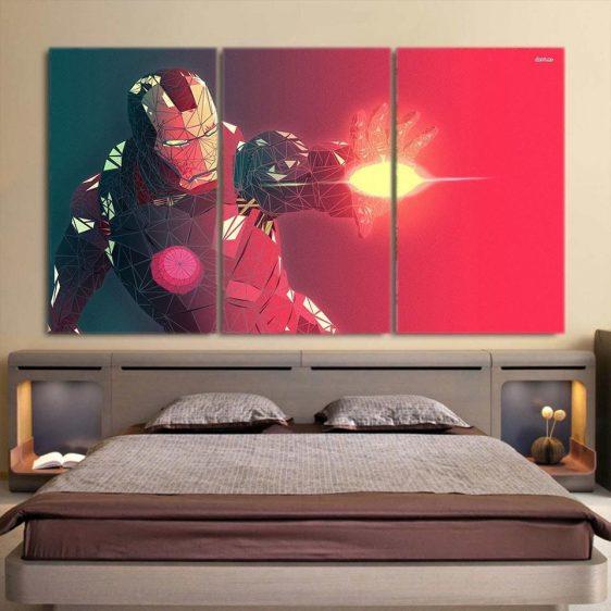 Marvel Comics The Fierce Iron Man 3pcs Canvas Print