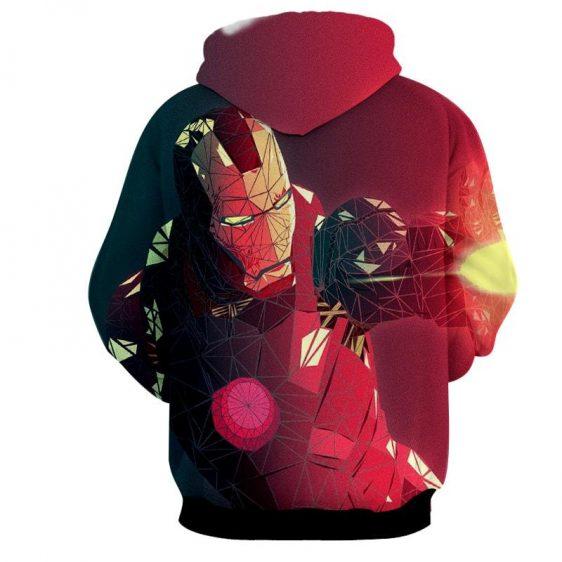Marvel Comics The Fierce Iron Man Full Print Hoodie