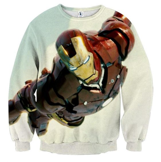 Marvel Comics The Intense Iron Man Design Sweatshirt