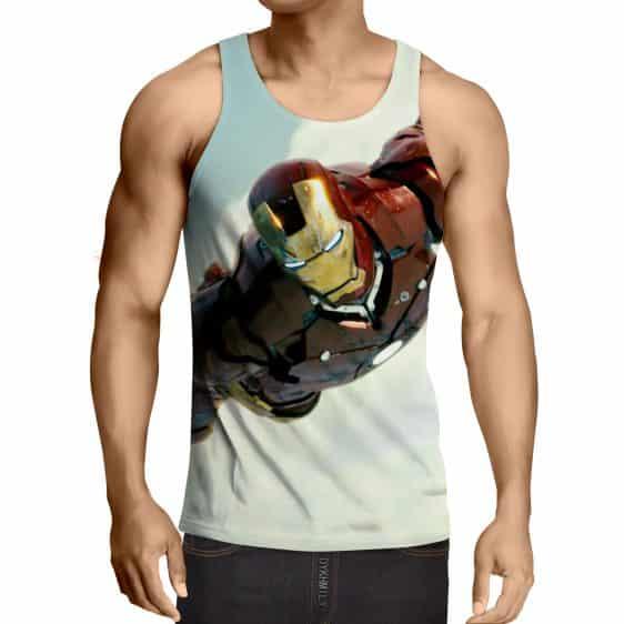 Marvel Comics The Intense Iron Man Full Print Tank Top