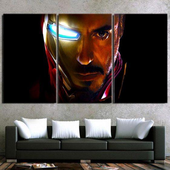 Marvel Comics The One Eye Iron Man Style 3pcs Canvas Print