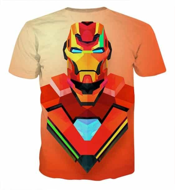 Marvel Comics The Sturdy Iron Man Design Full Print T-shirt