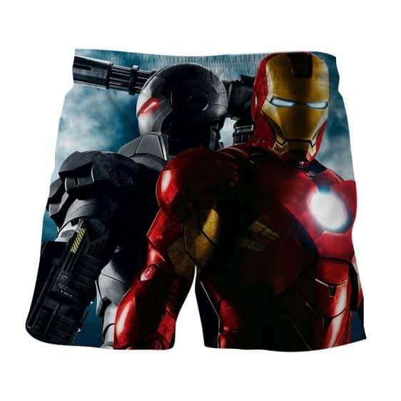 Marvel Comics Two Iron Man Unique Design 3D Printed Shorts