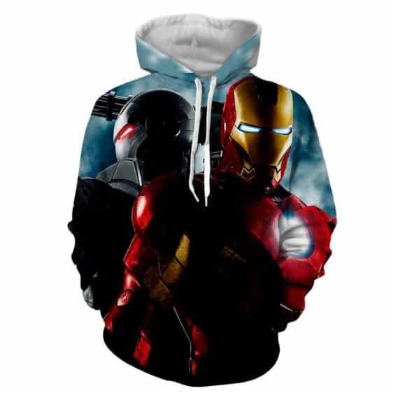 Marvel Comics Two Iron Man Unique Design Full Print Hoodie