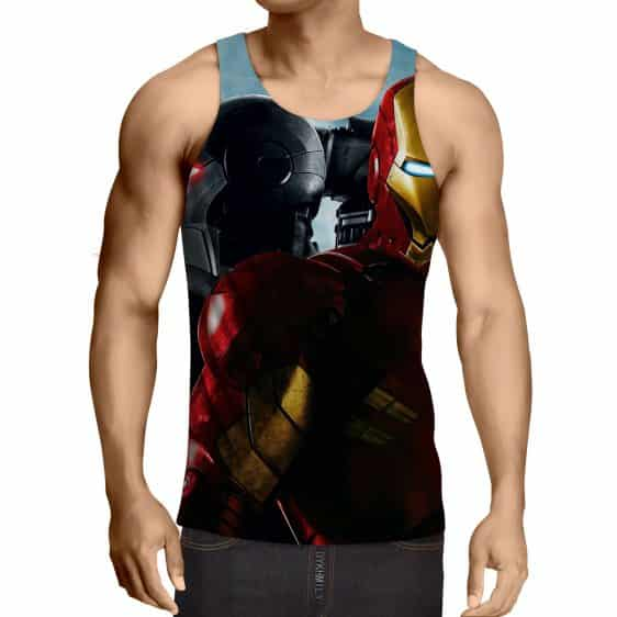 Marvel Comics Two Iron Man Unique Design Full Print Tank Top