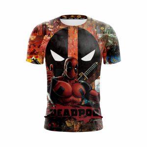 Marvel Deadpool Superhero Amazing Comic Designs Red T-Shirt