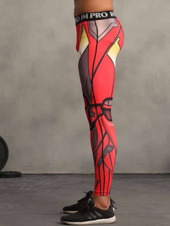 Marvel Iron Man Inspired Cool Design Men Compression Workout Leggings
