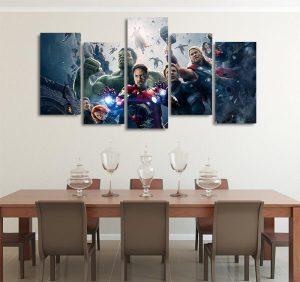 Marvel The Avengers Age Of Ultron 5pcs Wall Art Canvas Print