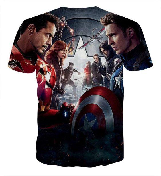 Marvel The Avengers Civil War Main Characters Swag T-Shirt