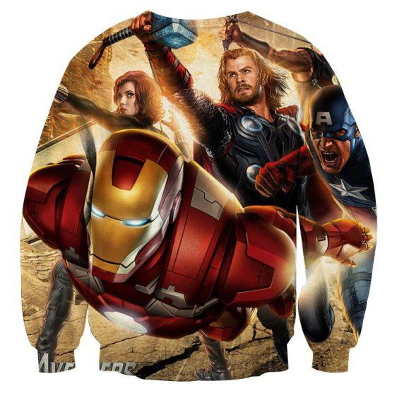 Marvel The Avengers Main Superheroes Fighting Swag Sweatshirt