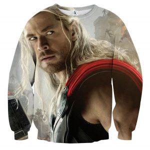 Marvel The Avengers Thor Portrait Unique 3D Print Sweatshirt - Superheroes Gears
