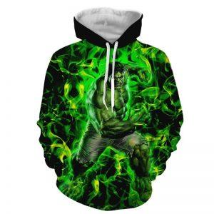 Marvel The Incredible Hulk Fist Design Green Vibrant Hoodie