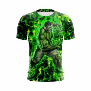 Marvel The Incredible Hulk Fist Design Green Vibrant T-Shirt