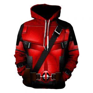 Marvel Wade Wilson Deadpool Uniform Costume Red Suit Hoodie