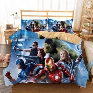 Marvel's Avengers Original Six Superhero Members Bedding Set