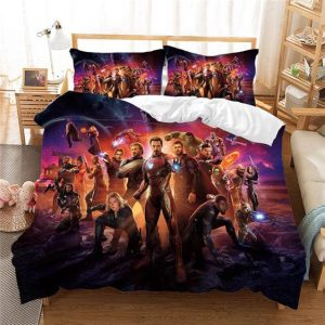 Marvel's Infinity War Main Characters Awesome Bedding Set