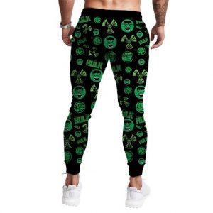 Marvel's The Incredible Hulk Patterns Green Cool Jogger Pants