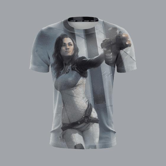 Mass Effect Galactic War Miranda Lawson Cool Gaming T-Shirt